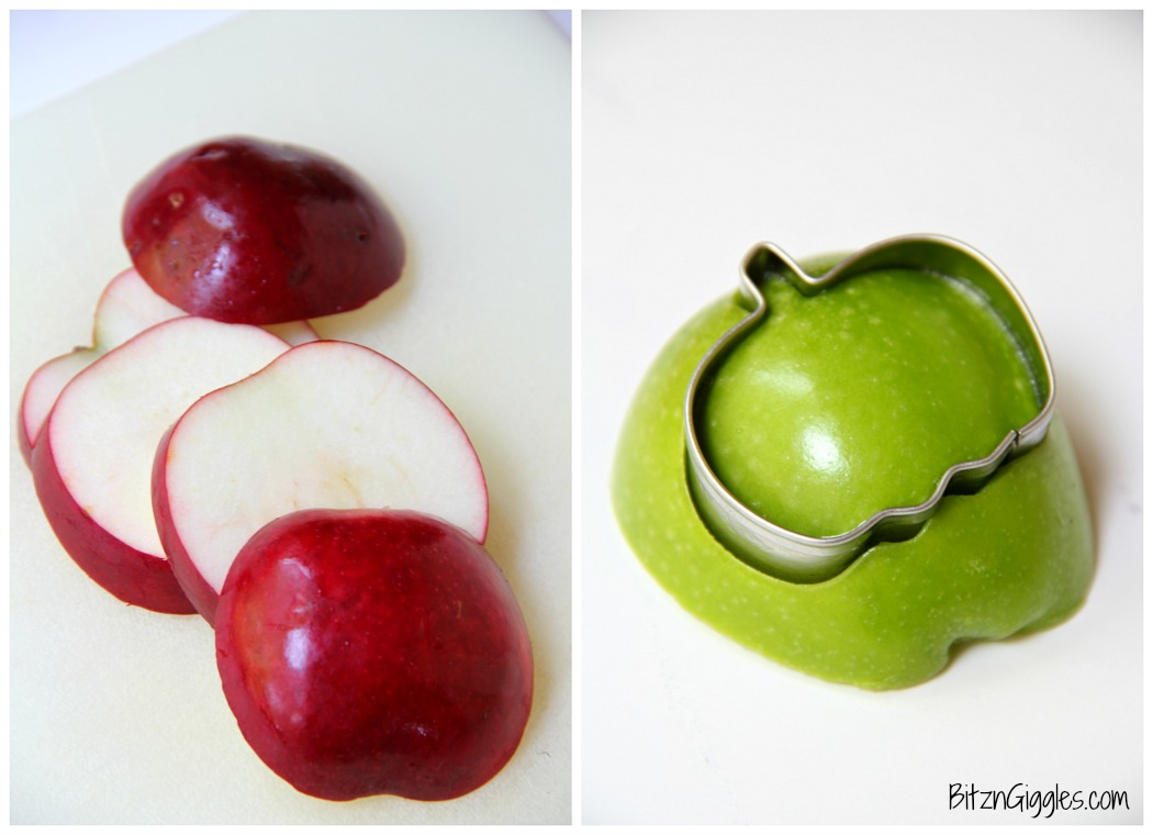 Caramel Apple Carving - Try your hand at some simple apple carving! Use mini cookie cutters to create shapes for delicious dipping fun!