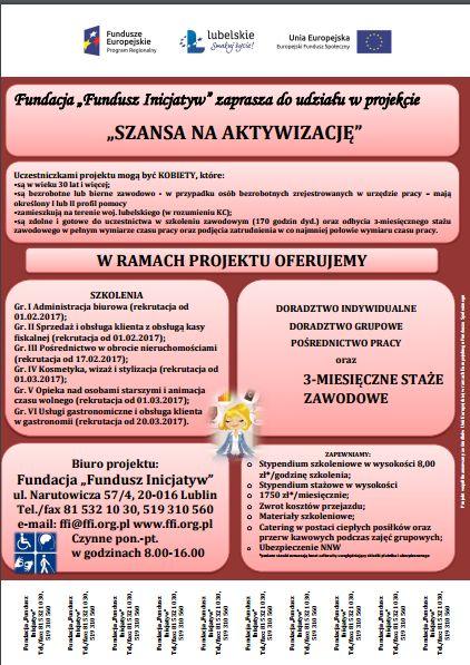Plakat - Szansa na aktywizację