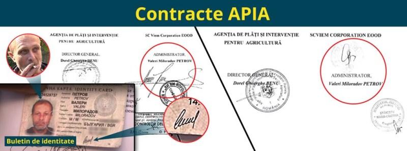 Подписите на Петров под договорите с APIA са различни от неговия.