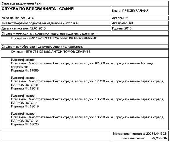 Зам-шеф на КПКОНПИ също не е декларирал пълната цена на апартамент и тераса от 244 кв.м.