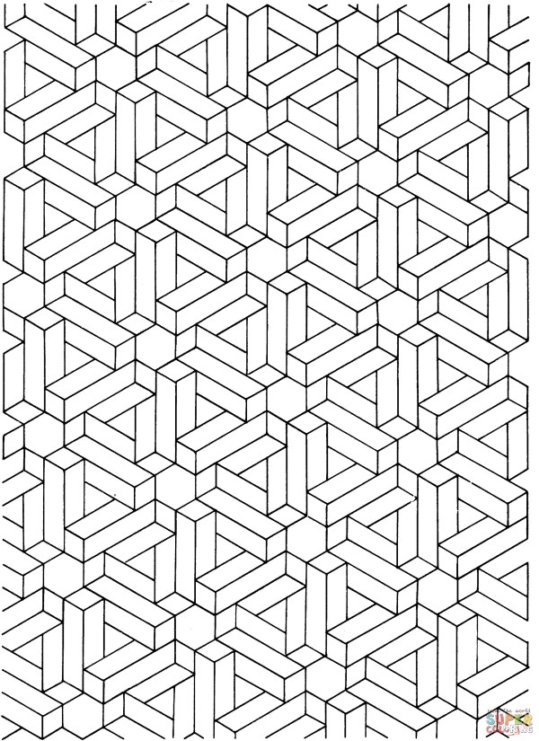 optical illusions coloring pages # 5