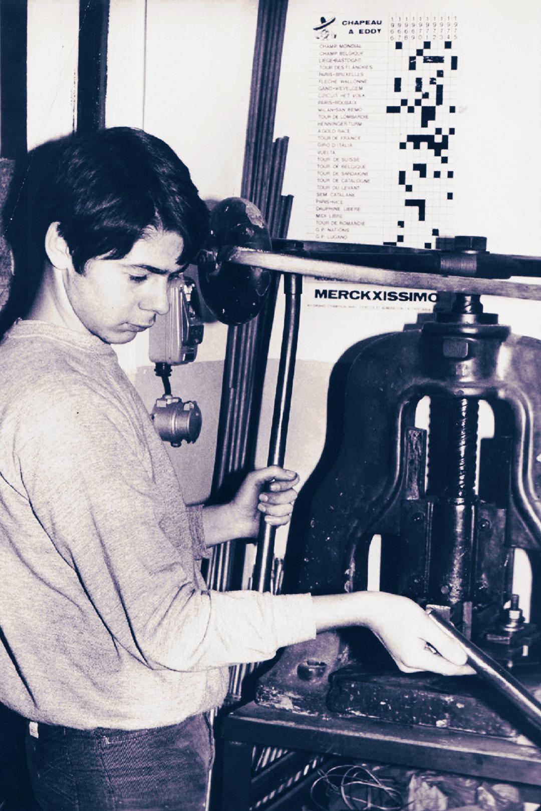Doriano De Rosa in officina a 14 anni
