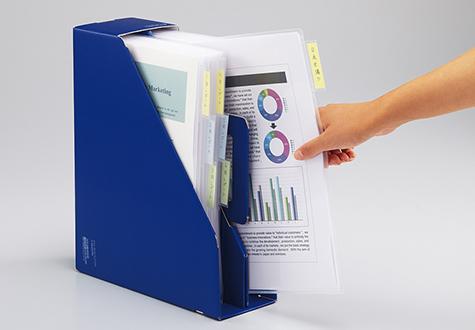 立てて収納するファイルボックス