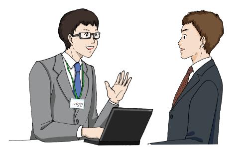 エージェントと求職者の男性