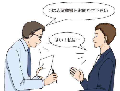 面接官の男性と面接を受ける男性