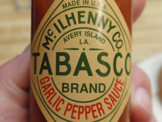 I went with Garlic Pepper Tabasco today - so good!