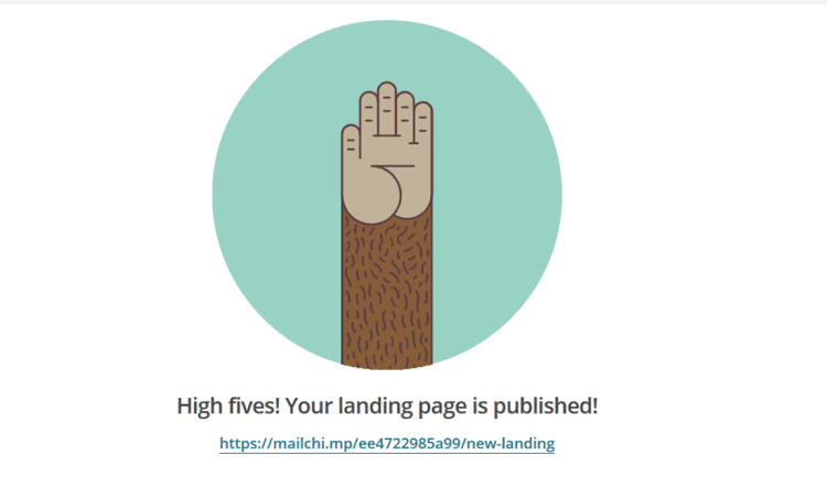 Landing Page Published, here is your linkLanding Page Published, here is your link