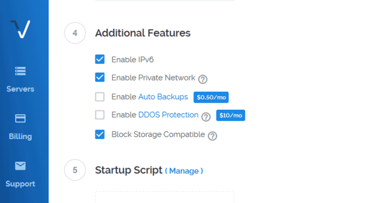Additional features server set up
