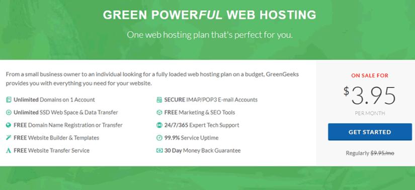 GreenGeeks Plan - Learn More