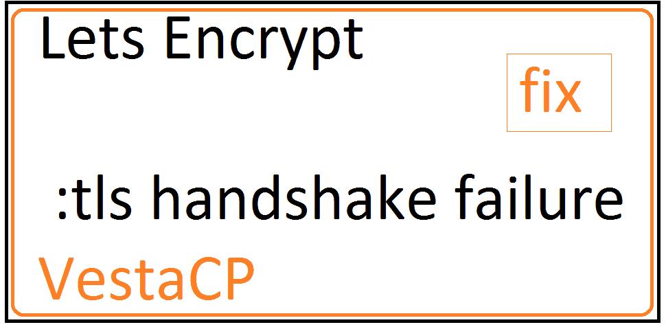 VESTACP Fix - Error: Fetching website: remote error: tls: handshake failure