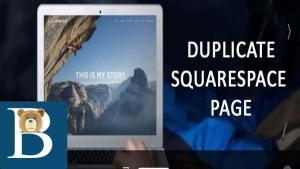 How to duplicate a squarespace page