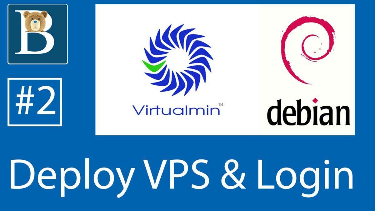 Deploy new Debian VPS server and login via Git Bash - Virtualmin Tutorial on Debian 10