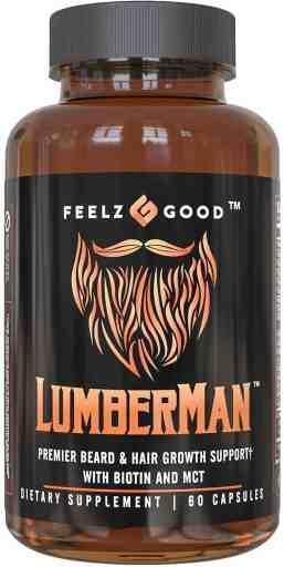 Lumberman Premier Beard Growth Vitamin Formula Review - By Bizarbin.com