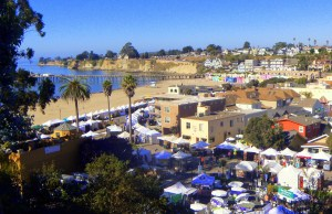 Capitola Art and Wine Festival Morning Setup