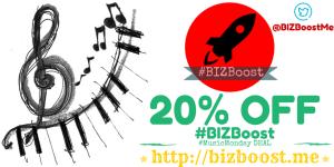 #BIZBoost #MusicMonday 20% OFF