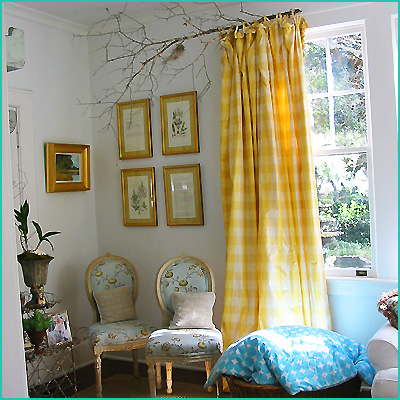 an inexpensive idea for curtain rods