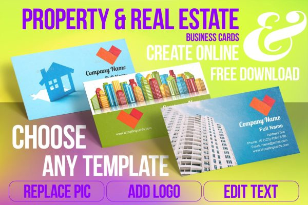 Real Estate Business Card Samples For Create Custome Design