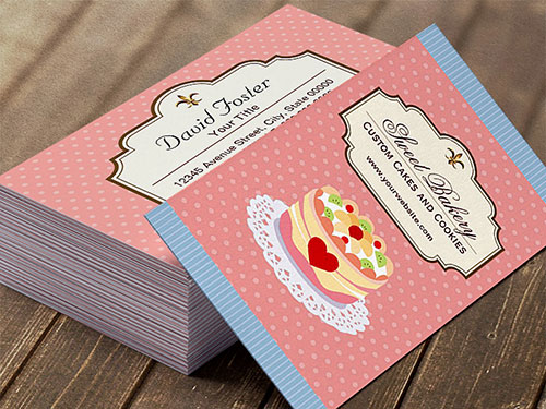 Unique Bakery Business Cards