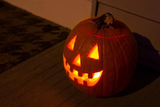 calabaza halloween con niños