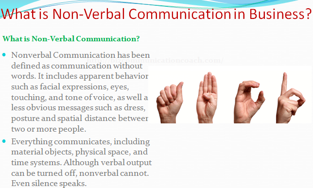 What is Nonverbal Communication in Business
