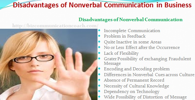 Disadvantages of Nonverbal Communication in Business