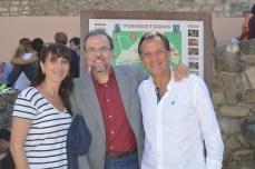 Con Antonio Liz, alcalde de Gallur durante doce años, con Elisa Arcas, su mujer.