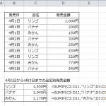 【エクセル講座】SUMIF関数を使って条件付きの合計を計算する5つの手順