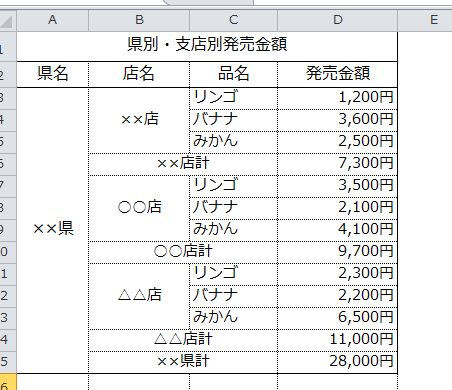 Excel_セルの結合_4