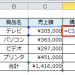 【Excel講座】絶対参照を使って数式を作成する6つの手順