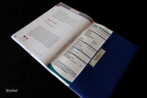 le rabat arrière du protège carnet de santé