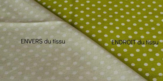 les tissus imprimés permettent de distinguer facilement l'endroit et l'envers du tissu