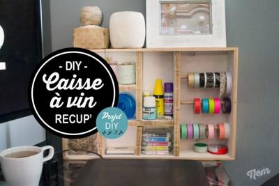 ranger son atelier couture en détournant une caisse à vin, idée customisation et récup