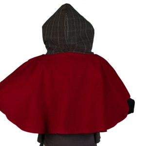 cape 6z'1 rouge et noire vue dos