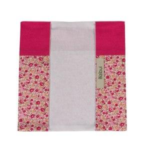 protège livret de famille rose et fleuris ouvert