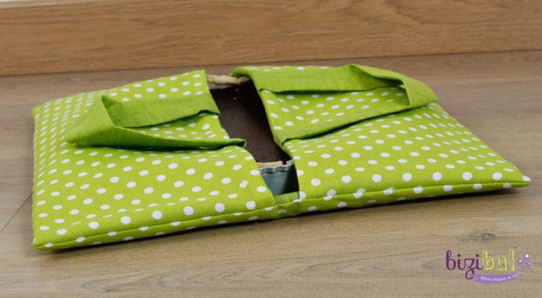 Le sac à tarte, un projet couture pour débutant, idéal pour apprendre à coudre à la machine. Une création zéro déchet et pratique, à découvrir à Port Saint Père en cours de couture Bizibul (44), proche Nantes.