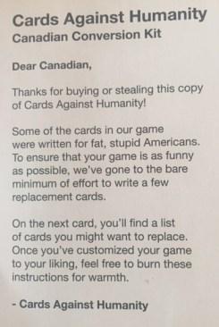 CAH Canadian Card