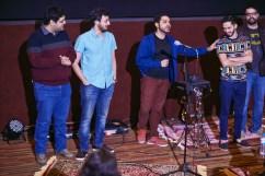 Zohaib Kazi introducing the video team for Wake-up (Jaago) #IsmailKaUrduSheher #MarkingsPublishing