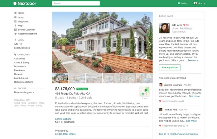 Nextdoor social media network
