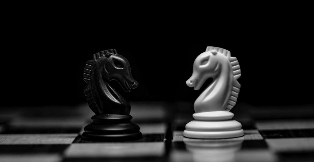 chess board for business strategy