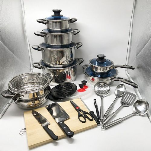 30Pcs Stainless Steel Cookware