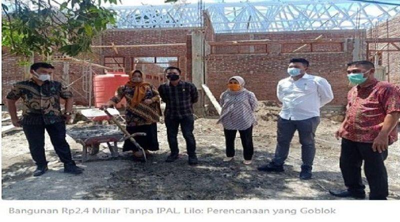"""Bangunan Rp2,4 Miliar Tanpa IPAL, Lilo: """"Perencanaan yang Goblok ,Bebernya"""