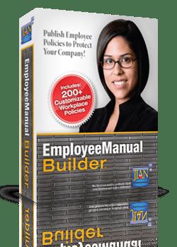 Employee Manual Builder policies handbook software template