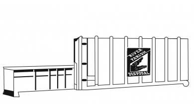 Horizontal stationary compactor