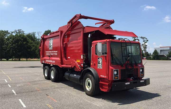 front-loading garbage trucks