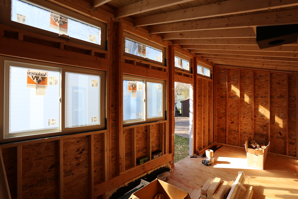 Tiny House: Sheathing and Windows