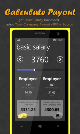 SendPayslip Mobile App Calculate Salary