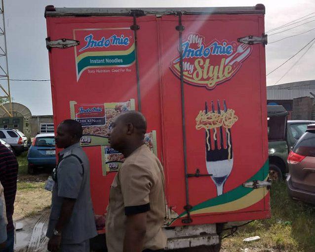 Image result for Makers of Indomie Noodles deny ownership of seized truck