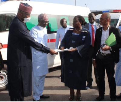 WHO donates 3 ambulances to Lagos State