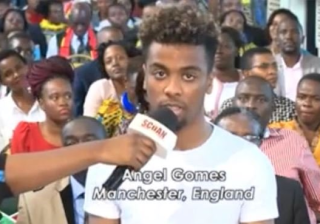 Revealed! Manchester United Player Angel Gomes Visited TB Joshua's SCOAN for Healing