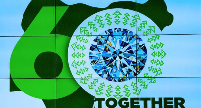Buhari Unveils Nigeria's Diamond Jubilee Logo